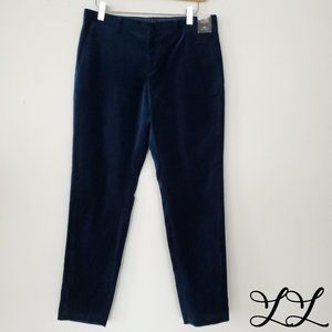 14th & Union Pants Velvet Dark Turquoise Blue Soft
